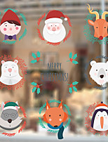 Window Film Window Decals Style Santa Claus Elk PVC Window Film