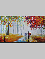 Dipinta a mano Paesaggi Orizzontale,Astratto Modern Un Pannello Tela Hang-Dipinto ad olio For Decorazioni per la casa
