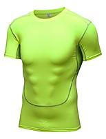 Men's Short Sleeve Running T-shirt Sweatshirt Fitness, Running & Yoga Quick Dry Sports All Seasons Sports WearRunning/Jogging Cycling