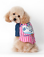 Dog Vest Dog Clothes Casual/Daily Sailor Blue Blushing Pink