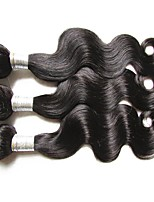 cheap 6a brazilian virgin hair body wave 3bundles 300g lot 100% human hair weaves natural black color