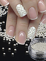 1 BottleTiny Circle Bead Decoration Silver Gold 3D Nail Art Caviar DIY Accessories Manicure Tools