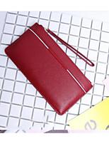 Women Money Clip Cowhide All Seasons Casual Square Zipper Green Ruby Purple