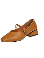 Women's Flats Comfort Formal Shoes Fall PU Walking Shoes Casual Office & Career Flat Heel Black Beige Brown Under 1in