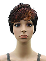 High Temperature Fiber Synthetic  Woman  Auburn Short Layered   Curly  Hair Wig