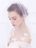 Wedding Veil One-tier Blusher Veils Cut Edge Tulle