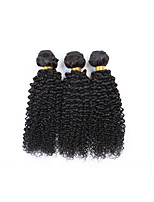 3 Pcs/Lot 300g Brazilian Remy Human Hair Wefts 100% Unprocessed Natural Black Hair 130% Density Kinky Curly Human Hair Weaves/Extensions