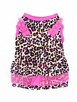 Cat Dog Tuxedo Dress Dog Clothes Party Casual/Daily Wedding Leopard Leopard