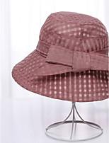 Da donna Primavera/Autunno Estate Organza Cappelli Fiore Alla pescatora A falda larga Cappello da sole,Solidi Colori misti