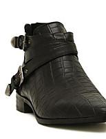Women's Boots Comfort PU Spring Casual Comfort Purple Black Flat