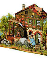 Jigsaw Puzzles DIY KIT 3D Puzzles Building Blocks DIY Toys Famous buildings Architecture Hard Card Paper