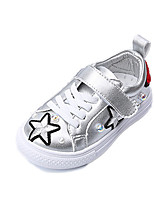 Girls' Sneakers Comfort Fall Winter PU Casual Dress Outdoor Imitation Pearl Magic Tape Flat Heel White Black Flat
