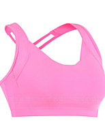 Women's Running Crop Top Fitness, Running & Yoga Sports Bra for Yoga Running/Jogging Exercise & Fitness Yan pink