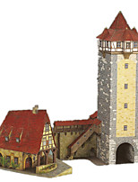 Jigsaw Puzzles DIY KIT 3D Puzzles Building Blocks DIY Toys Castle Windmill Hard Card Paper