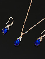 Women's Drop Earrings Choker Necklaces Bridal Jewelry Sets Sapphire Vintage Elegant DropJewelry For Wedding Anniversary Party