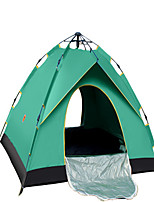 3-4 persons Tent Double Fold Tent One Room Camping Tent 1000-1500 mm Terylene Silver Tape Quik Dry Ventilation Foldable-Camping / Hiking-