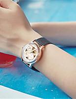 Mulheres Relógio de Moda relógio mecânico Automático - da corda automáticamente Impermeável Lega Banda Preta Dourada