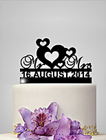 Personalized Acrylic Mr Mrs Anniversary Wedding Cake Topper