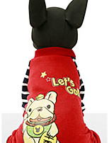 Dog Sweatshirt Dog Clothes Casual/Daily Cartoon Ruby Yellow