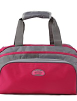 Men Travel Bag PVC All Seasons Casual Sports Outdoor Weekend Bag Zipper Fuchsia Blue