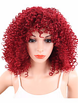 Trendy Afro Kinky Curly Wigs for Black Women Red Color Synthetic Wigs Heat Resistant African Hairstyle