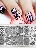 1 pc Mandala Nail Art Carimbo de Placa Placa de Mandara Paisley XY-J13 Damasco Carimbar A Placa de Imagem Prego Placa de Estampagem