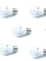 5pcs 3W LED Smart Bulbs A60(A19) 9SMD 2835 Warm/Cool White Sensor Sound-Activated Decorative Light Control AC220-240V