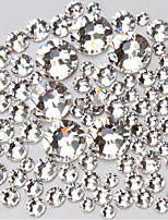 1440pcs NEW(ss3/ss4/ss5/ss6/ ss8 /ss10) 1440pcs Crystal Rhinestones for Nail Art Flat Back Non Hotfix Glue on Nail Art Decoration
