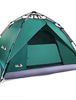 3-4 personnes Tente Double Tente automatique Tente de camping 2000-3000 mm Fibre de Verre TérylèneEtanche Résistant à la poussière