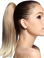 High Quality Blonde Synthetic 12 inch Long Straight Ponytail Hair Piece