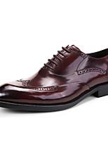Для мужчин Свадебная обувь Формальная обувь Кожа Весна Осень Свадьба Для вечеринки / ужина Формальная обувьЧерный Кофейный Коричневый