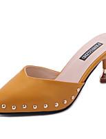 Damen Slippers & Flip-Flops Komfort Leuchtende Sohlen PU Sommer Normal Kleid Komfort Leuchtende Sohlen Perlenstickerei Kitten Heel-Absatz