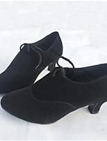 Для женщин Латина Полиуретан На каблуках Тренировочные Черный Красный