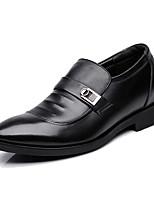 Masculino Oxfords Sapatos formais Couro Primavera Outono Casual Preto 5 a 7 cm