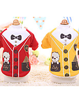 Dog Coat Dog Clothes Casual/Daily Cartoon Ruby Yellow