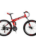 Vélo tout terrain Vélo pliant Cyclisme 21 Vitesse 26 pouces/700CC Shimano Frein à Double Disque Fourche de suspensionSuspension Arrière