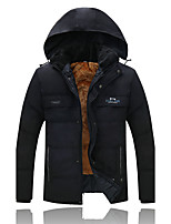 Middle-Aged Men's Casual Hooded Thick Warm Coat