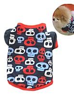 Chat Chien Manteaux Tee-shirt Sweatshirt Vêtements pour Chien Soirée Décontracté / Quotidien Garder au chaud CrânesNoir Couleur