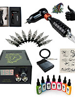 1 Set High Born Tattoo Kit HS3 Rotary Machine  With 7x15ML Inks 5 Needles Power Supply Switch