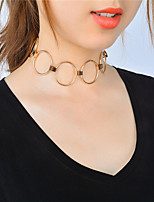 Women's Choker Necklaces Round Copper Iron Unique Design Euramerican Fashion Personalized Statement Jewelry Jewelry ForParty/ Evening