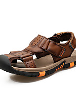 Men's Sandals Slingback Comfort Light Soles Real Leather Cowhide Spring Summer Casual Outdoor Office & CareerSlingback Comfort Light