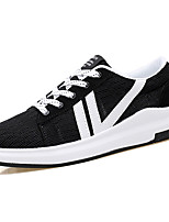 Men's Sneakers Comfort Spring Summer PU Casual Low Heel White Black Gray Blue Under 1in