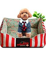 Собака Кровати Животные Коврики и подушки Цветы Теплый Мягкий Кофейный Красный Синий