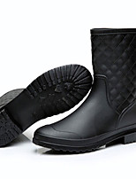 Women's Boots Rain Boots Leatherette Spring Summer Casual Outdoor Rain Boots Navy Blue Black Under 1in