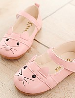 Girls' Sandals Light Soles Leatherette TPU Summer Fall Casual Dress Light Soles Animal Print Hook & Loop Low HeelBlushing Pink Black