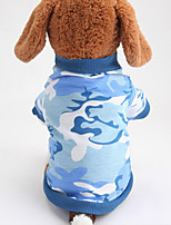 Dog Shirt / T-Shirt Dog Clothes Casual/Daily Color Block Blue Yellow
