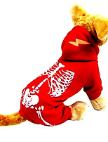 Dog Costume Dog Clothes Cosplay Halloween Skulls Ruby Black