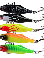HiUmi Lot 5 pcs Soft Lead Bait 6.3cm 15g VIB Japan Soft Fishing Lure Jig Head Baits Peche Lures Wobblers Souple Wobbler Isca Artificial