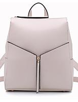 Women Shoulder Bag PU All Seasons Casual Outdoor Round Zipper Fuchsia Black White