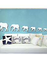 Creative Elephant Specular Adornment Wall Stickers
